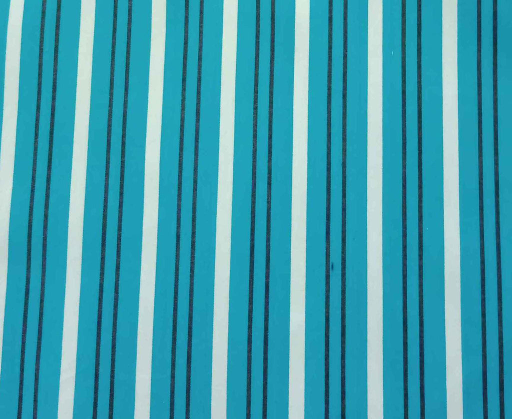 FM01_100% cotton Cyan Stripes Fabric