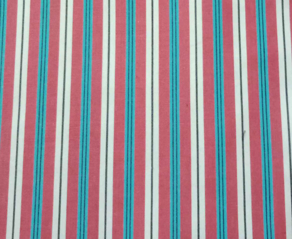 FM01_100% cotton Red Stripes Fabric