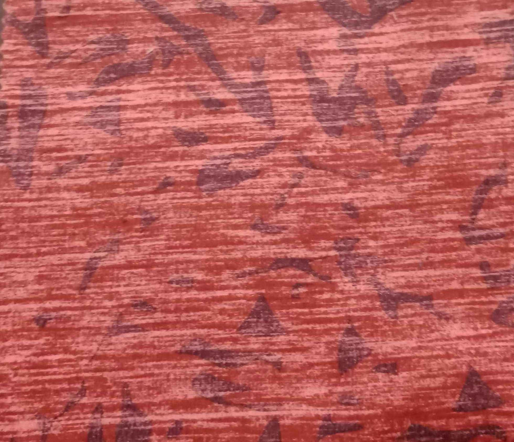 FM01_100% cotton  Red Print Fabric