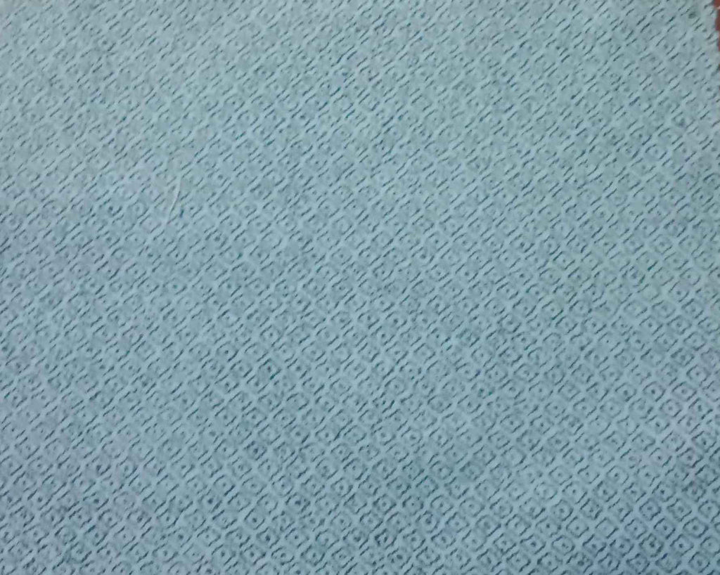 FM01_100% cotton linen Cyan Print Fabric