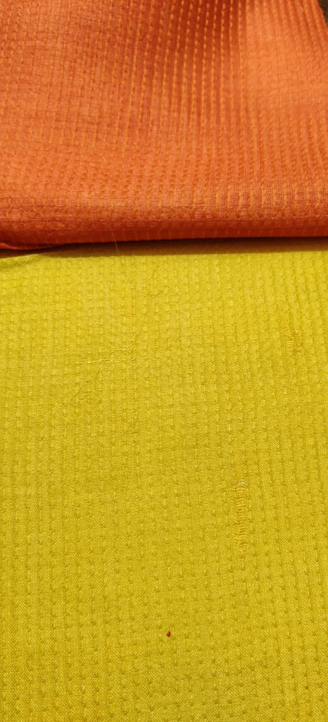 FM01_Wrap-16 cotton, tassur,gicha silk,polytor, viscous, Yellow Fabric