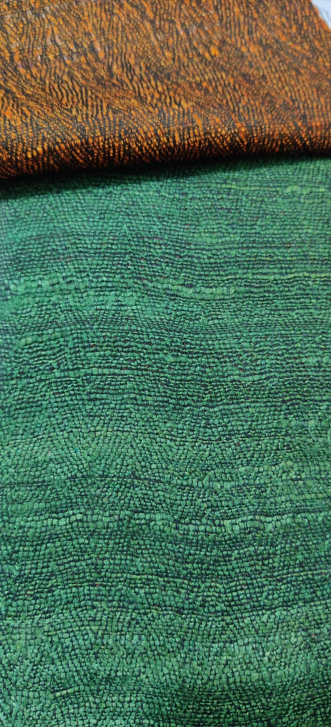 FM01_Wrap-16 cotton, tassur,gicha silk,polytor, viscous, Green Fabric