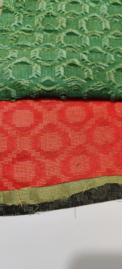 FM01_Wrap-16 cotton, tassur,gicha silk,polytor, viscous, Green Prints Fabric