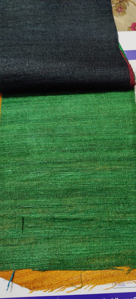 FM01_Wrap-16 cotton, tassur,gicha silk,polytor, viscous, Green Slub Fabric