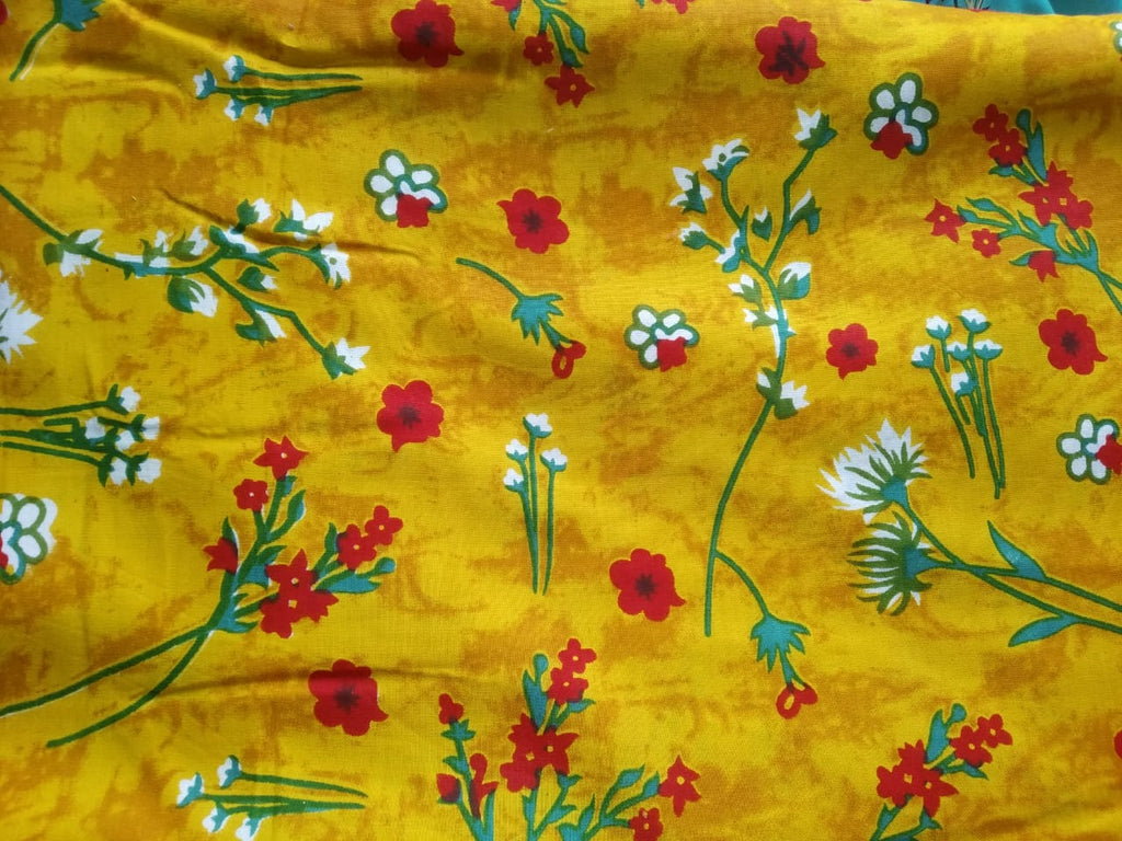 FM01_Rayon Yellow Prints Fabric