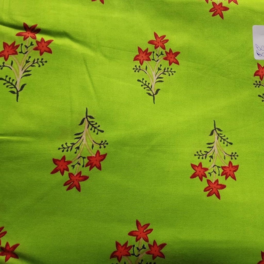 FM01_Rayon Green Prints Fabric