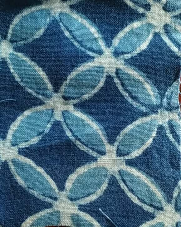 Blue Base With Floral Prints 100% Cotton Print Fabric Online