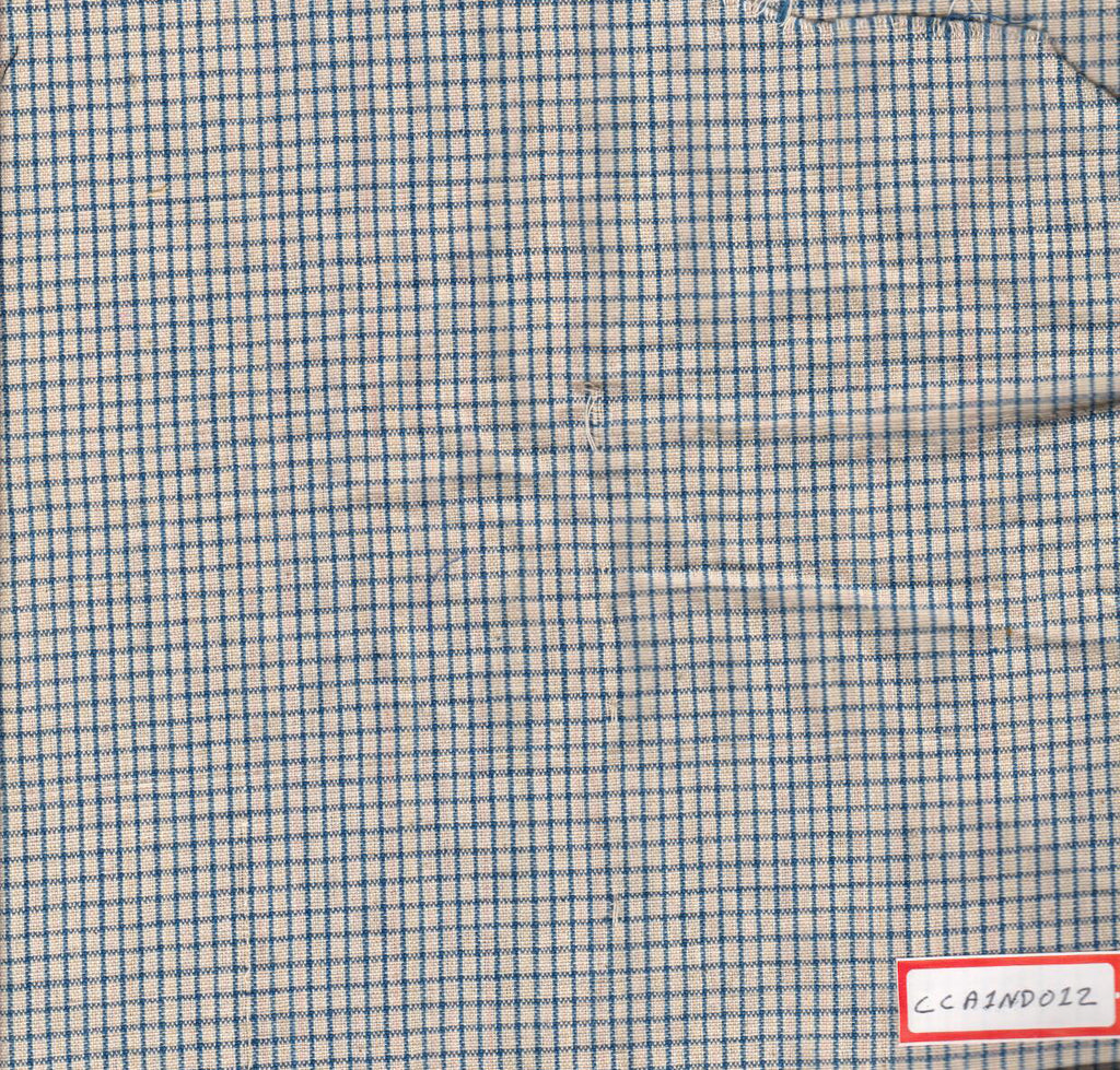 Blue Checks With Pink Stripes 100% Cotton Natural Dye Fabric