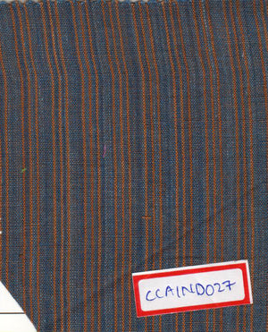 Blueish Grey And Brown 100% Cotton Natural Dye Fabric
