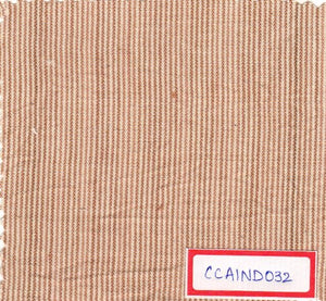 Brown And White 100% Cotton Natural Dye Fabric
