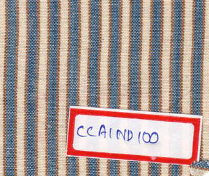 White, Brown And Blue 100% Cotton Natural Dye Fabric