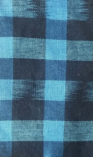 FM02_100% cotton Cyan Checks Fabric