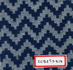 Blue And White 100% Cotton Textured Fabric