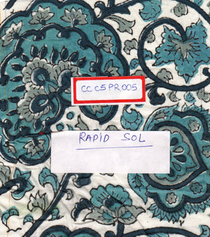 FM06_100% cotton Cyan Prints Fabric