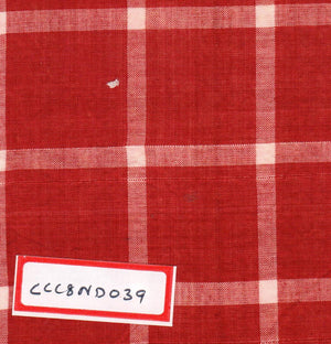 FM02_100% cotton Red Checks Fabric