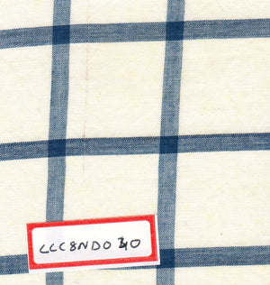 FM06_100% cotton Cyan Checks Fabric