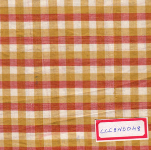 FM02_100% cotton Orange Checks Fabric