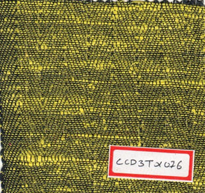 Black And Yellow 100% Cotton Textured Fabric