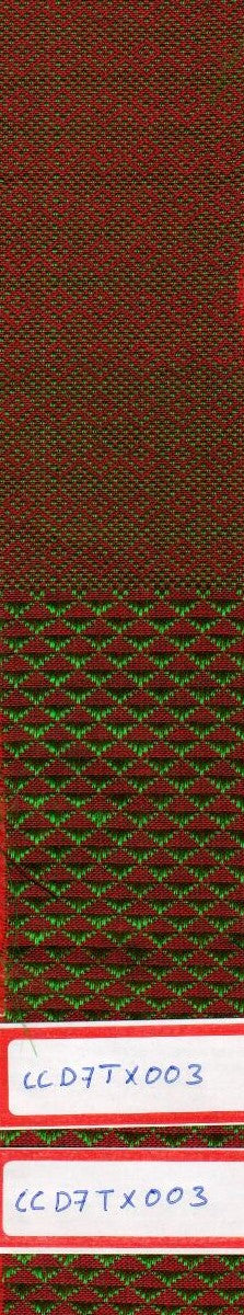 Green And Red 100% Cotton Textured Fabric