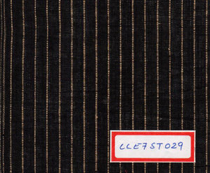 FM06_100% cotton Black Slub Fabric