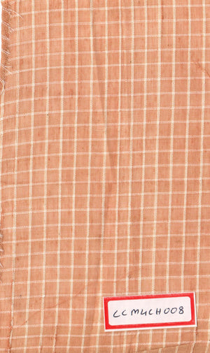 FM06_100% cotton Orange Textured Fabric