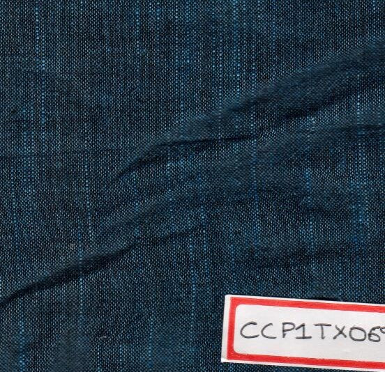 Blue 100% Cotton Textured Fabric