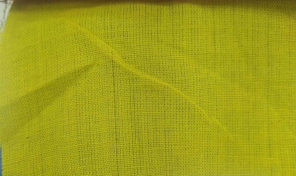 YELLOW 100% Cotton Plain Fabric