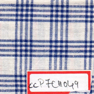 FM06_100% cotton White Checks Fabric