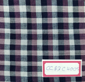FM06_100% cotton Blue Checks Fabric