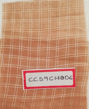 FM06_100% cotton Orange Checks Fabric