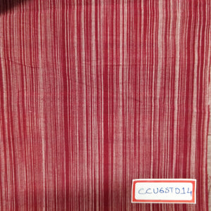 FM06_100% cotton Red Stripes Fabric