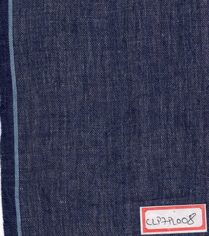 FM06_Cotton and linen Blue Chambray Fabric