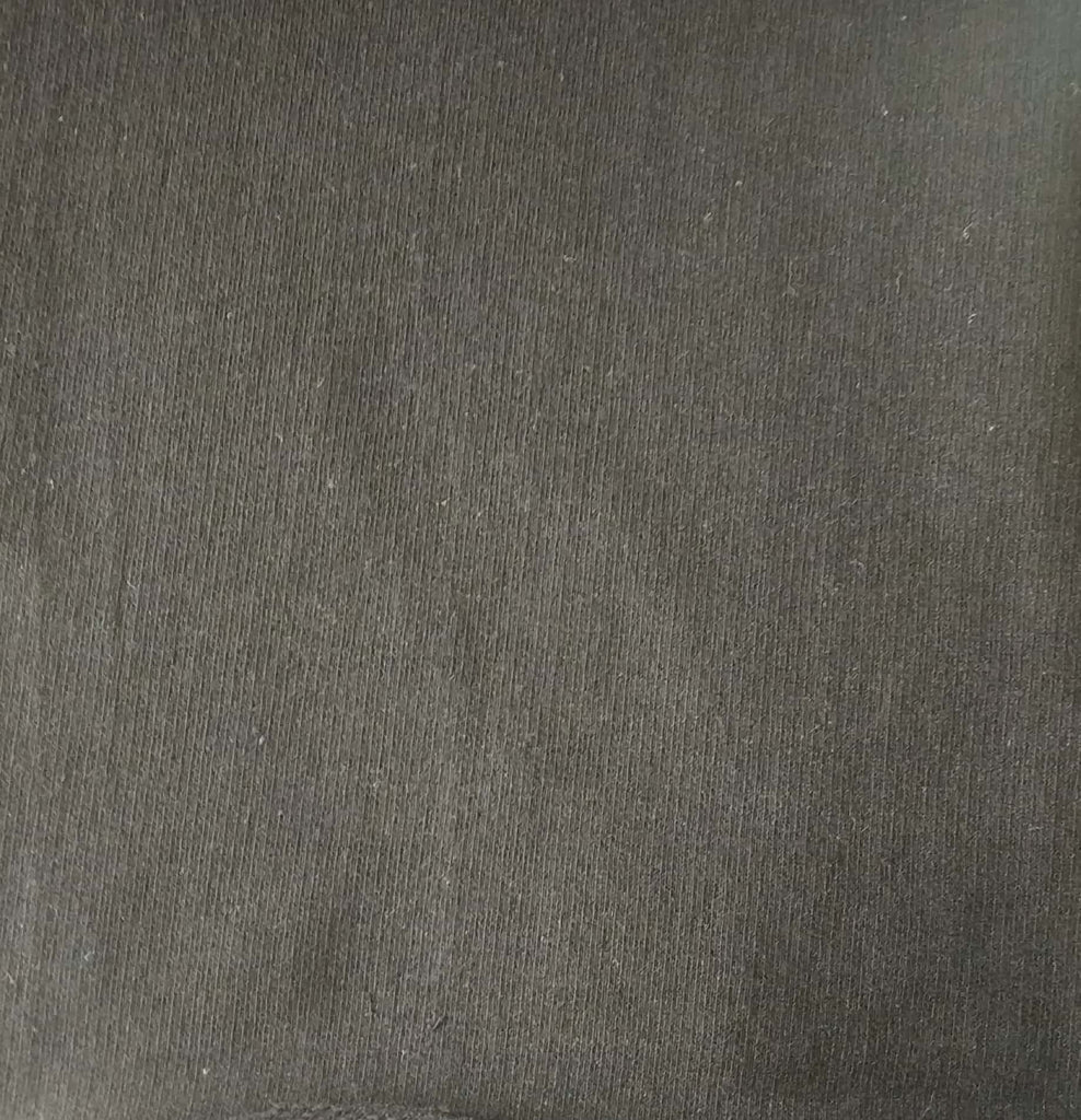 Black Cotton And Polyester Recycled Fabrics Fabric