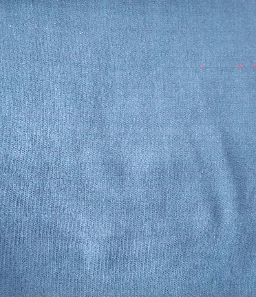 Dark Blue Cotton And Polyester Recycled Fabrics Fabric