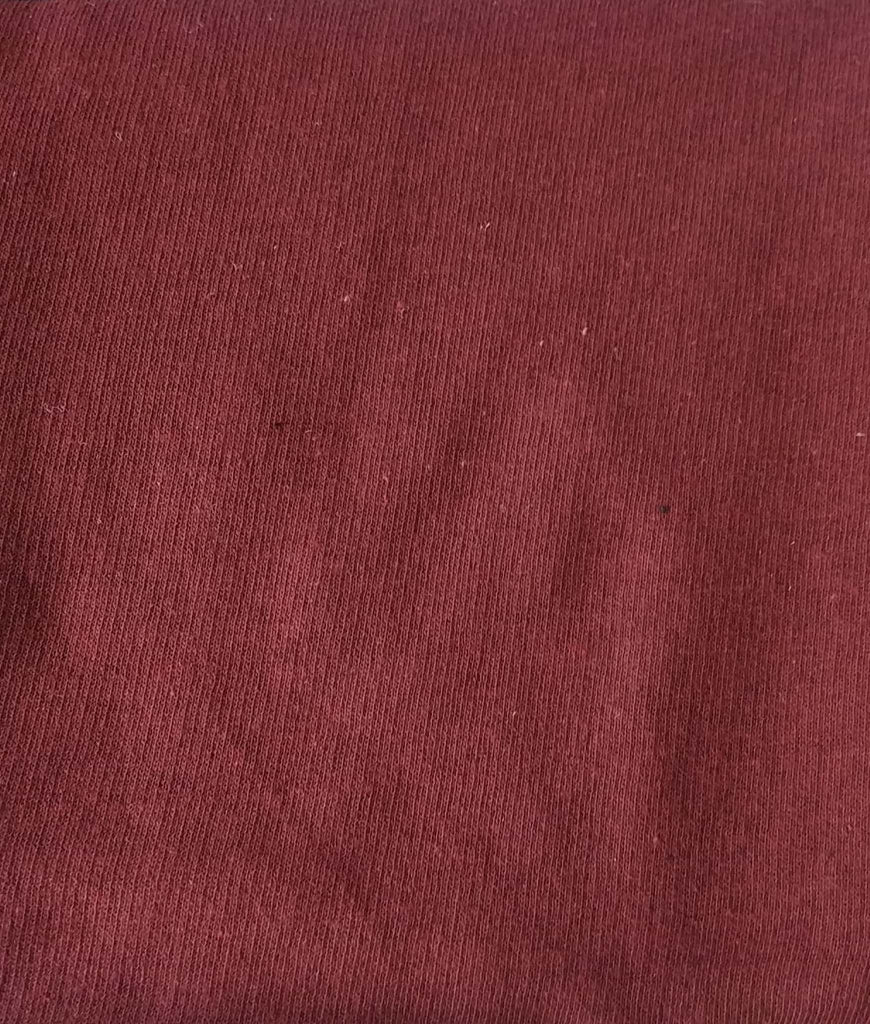 Dark Maroon Cotton And Polyester Recycled Fabrics Fabric