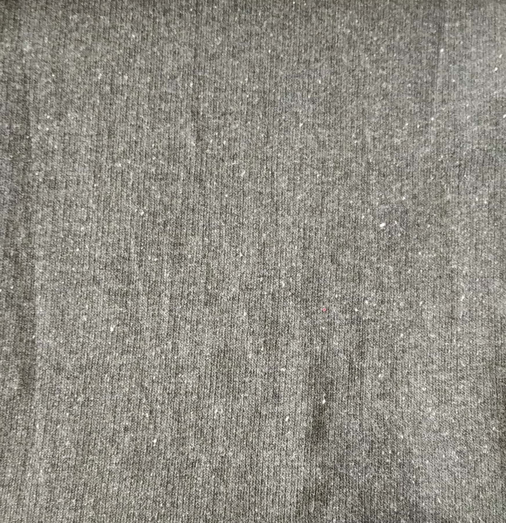 Dark Grey Cotton And Polyester Recycled Fabrics Fabric