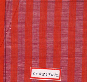 FM06_Cotton and silk Red Stripes Fabric