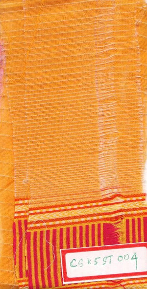 FM06_Cotton and silk Orange Slub Fabric