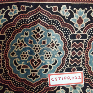 FM06_Cotton and silk Red Prints Fabric