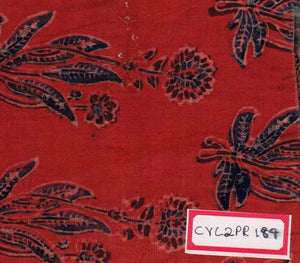 FM06_Cotton and viscose Red Prints Fabric