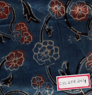 FM06_Cotton and viscose Blue Prints Fabric