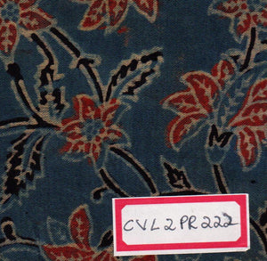 FM06_Cotton and viscose Black Prints Fabric