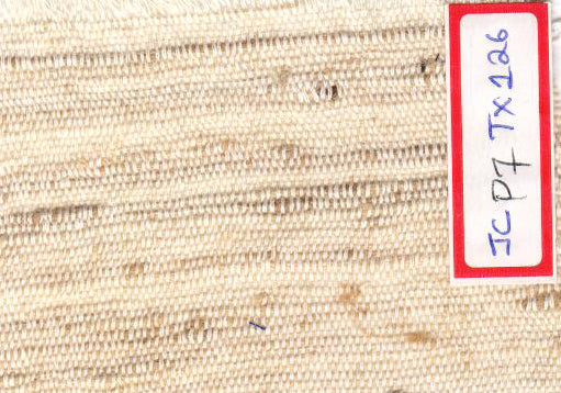White Background With Jute Yarns Jute and Cotton Textured Fabric Online