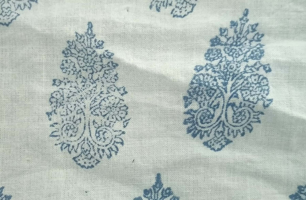 100% Khadi Cotton Print Fabric