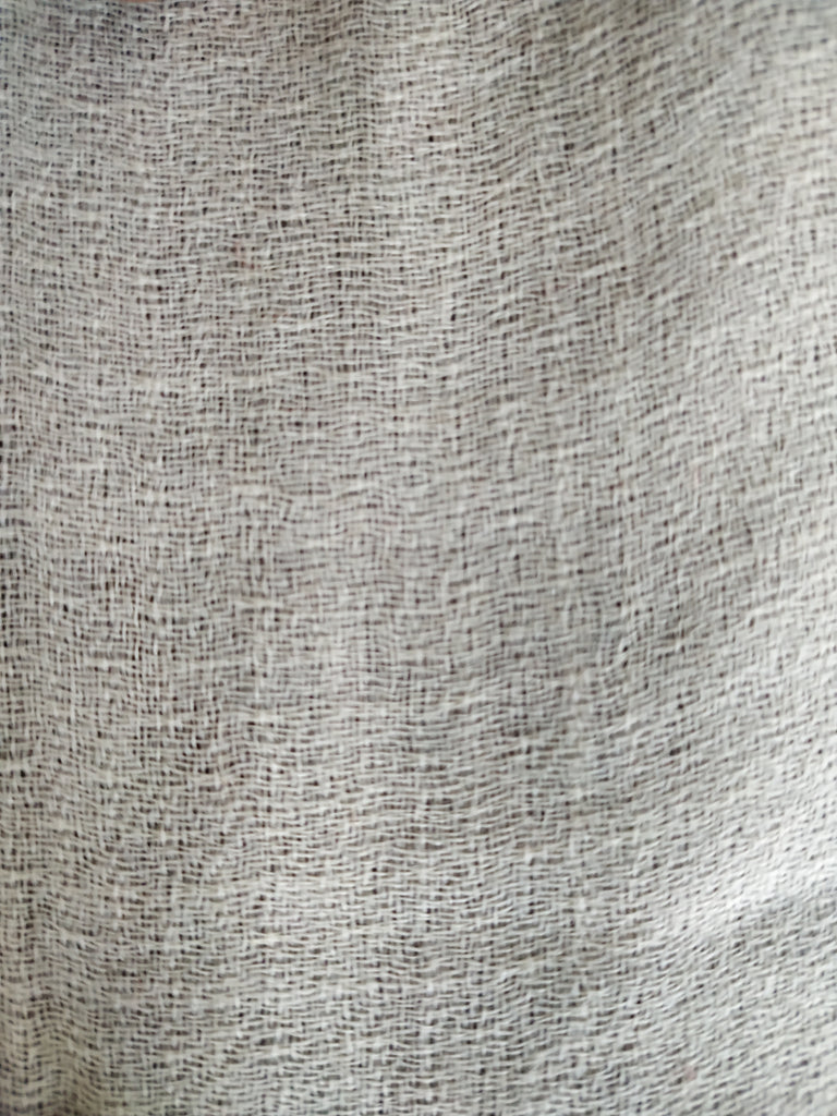 WHITE 100% Wool Plain Fabric