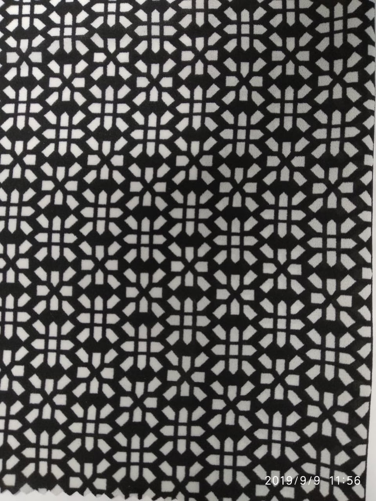 Black Polyester Georgette Fabric