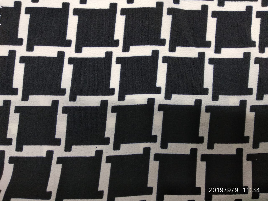 Black Polyester Crape Fabric