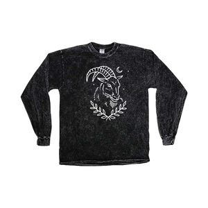 'Mystic Goat' Mineral Wash Long Sleeve