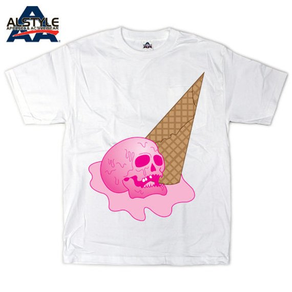 'Ice Scream' Blue or Pink T-Shirt