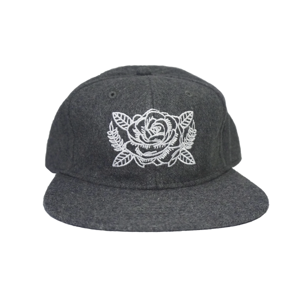 Rose Bloom Wool Blend Snapback